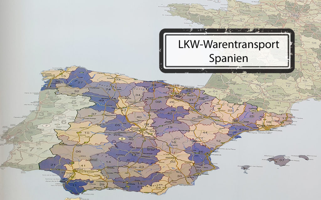 LKW-Warentransport-Spanien